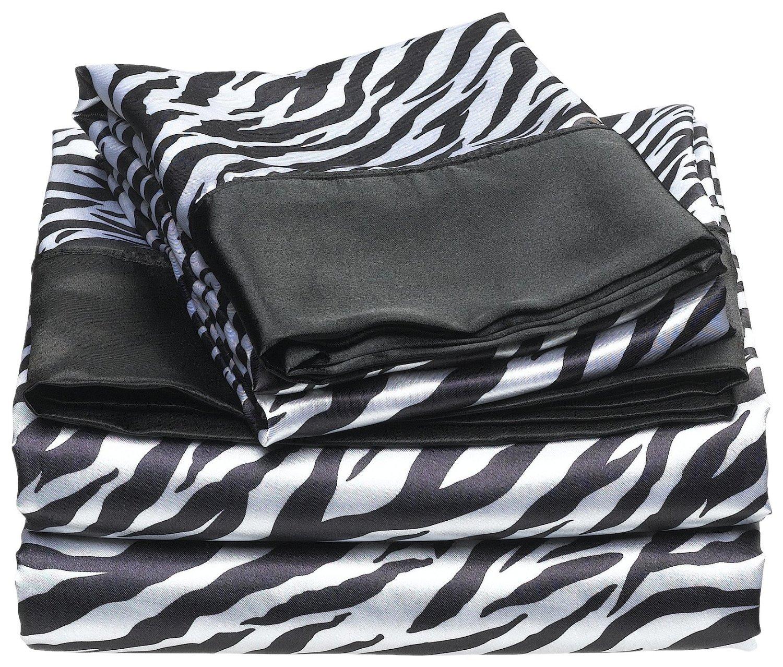 Zebra Satin Sheets